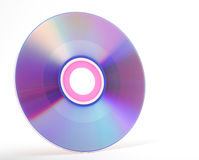 cd isolerad white Arkivfoton