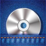 CD on a jeans background Stock Photo