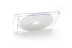 CD Jewel Case I. CD case on white background Royalty Free Stock Image