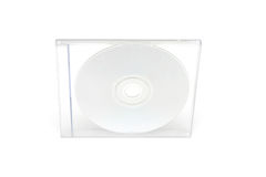 CD Jewel Case II. CD case on white background Stock Image