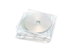CD Jewel Case Stack I. Stack of jewel CD cases on white background Royalty Free Stock Image
