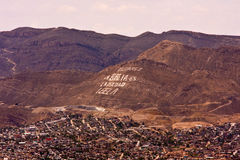 CD Juarez Bijbel berg-1 stock foto's