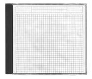 cd kvadrerat räkningspapper Arkivfoto