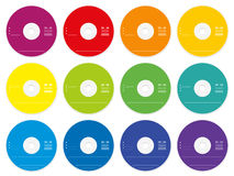 CD Labels Colored Template Stock Image