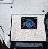 CD laser lens. It is a close up photo of CD laser lens Royalty Free Stock Image