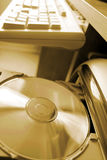 Cd in loader Royalty Free Stock Photography