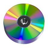 CD lub DVD dysk na białym tle Zdjęcie Stock