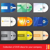 Cd lub dvd projekta szablon dla firmy prezentaci Fotografia Stock