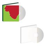 CD med räkningen för designeps för 10 bakgrund vektor för tech Arkivbilder