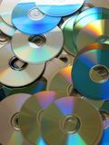 CD mess. CD's spread on the floor Royalty Free Stock Photos