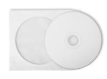 CD met document zak Stock Afbeeldingen