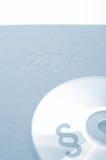 CD met een paragraafpictogram Stock Afbeelding