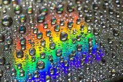 CD mit Wasser u. Licht Stockbild