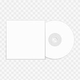 CD mockup template. Stock Image