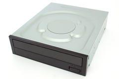 CD - movimentação de DVD com um tampão preto Fotografia de Stock Royalty Free