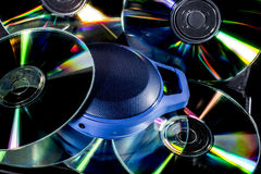 Cd and music boxes Royalty Free Stock Photography