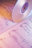CD and Music Score Royalty Free Stock Photos