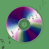 Cd music world. An image showing cd music discs and musical notes on a background for the internet Royalty Free Stock Images