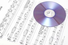 cd musikark Royaltyfri Bild