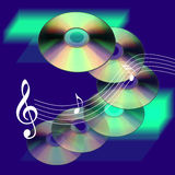 cd muzyki Fotografia Royalty Free