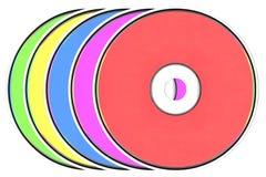 CD na białym tle Fotografia Royalty Free
