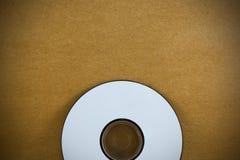 CD na drewno papieru tła teksturze Obrazy Royalty Free