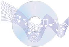 CD- nota's Royalty-vrije Illustratie