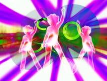 CD o DVD 5 con las mujeres   Imagen de archivo