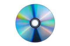 CD o DVD (compact disc) presentato su un fondo bianco Fotografie Stock