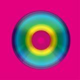 CD o DVD nel disegno variopinto del cerchio   Fotografia Stock