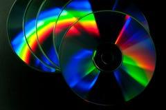 CD- och DVD-skiva royaltyfri fotografi