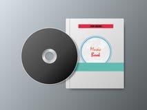 CD och musikböcker på en grå bakgrund Royaltyfria Foton