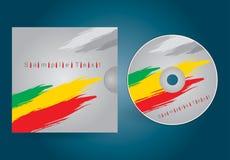 CD- oder DVD-Abdeckung lizenzfreie abbildung