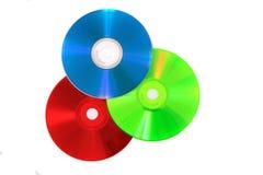 CD oder DVD als RGB-Farbmodell Stockfotos