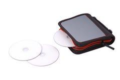 CD- oder DVD-Beutel Stockbild