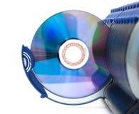 CD in open sectie van vakje Stock Afbeelding