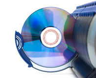 CD in open section of box Stock Image