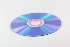 CD ou DVD no fundo branco Fotos de Stock