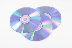 CD ou DVD no fundo branco Fotos de Stock Royalty Free