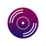 CD ou vinyle d'icône de musique musique et signe audio Photo libre de droits