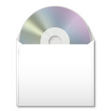 CD in paper case Stock Photo
