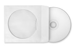 CD with paper case isolated Stock Photos