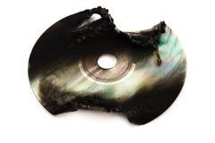 CD para fora queimado com trajeto de grampeamento Imagem de Stock Royalty Free