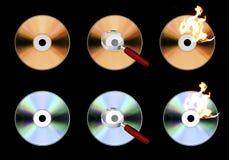 CD pictogrammen Stock Fotografie