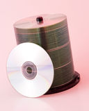 Cd pile 2. A stack of blank cds stock photography