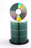Cd pile 3. A stack of blank cds royalty free stock photos