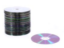 Cd pile Royalty Free Stock Image