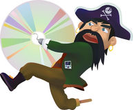 CD pirate - Illustration Stock Photos
