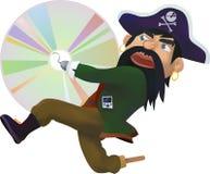 CD piratkopierar - illustrationen Arkivfoton