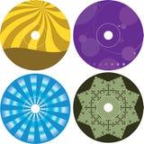 Cd - plantilla del diseño de la etiqueta del DVD Imagen de archivo libre de regalías